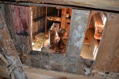 Interiér mlyna pred opravou